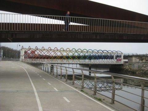 Senda ciclable:  paseo de la Ría,  Llaranes, Villalegre, La Luz