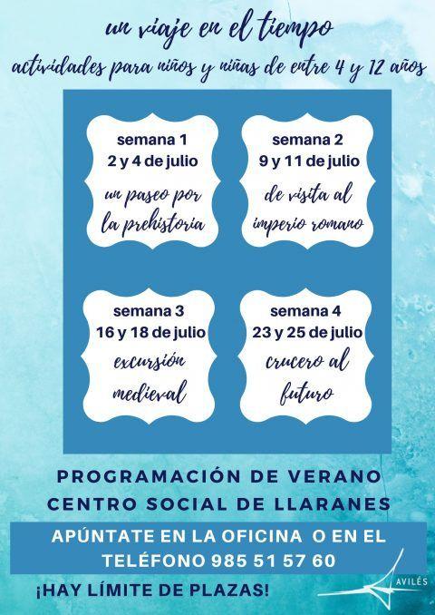 Actividades infantiles de verano en el C. Social de Llaranes