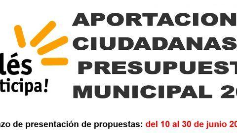 APORTACIÓN A PRESUPUESTOS MUNICIPALES 2021